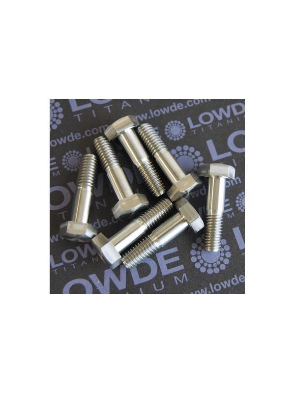 DIN 931 M8x30 mm. de titanio gr. 5 (6Al4V) - DIN 931 M8x30 mm. de titanio gr. 5 (6Al4V)