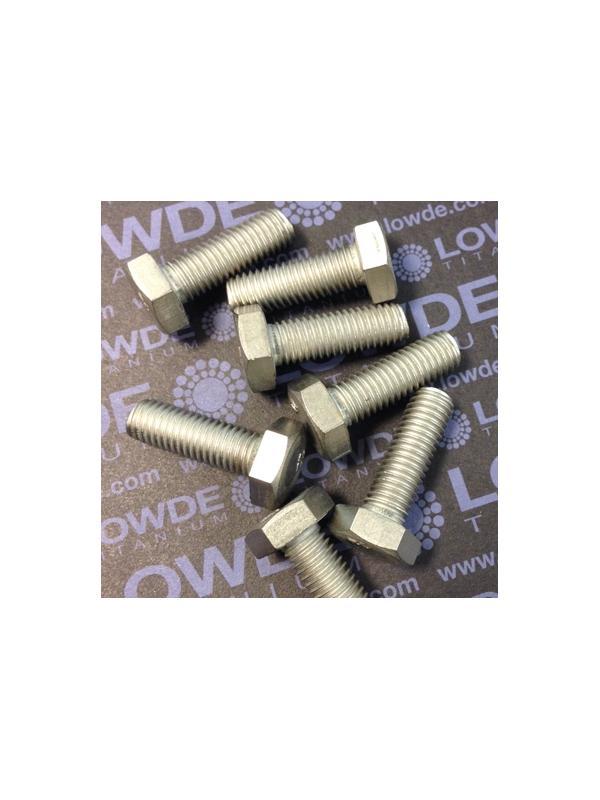 Tornillo DIN 933 M10x30 mm. de titanio gr. 2 (puro) - Tornillo DIN 933 M10x30 mm. de titanio gr. 2 (puro)