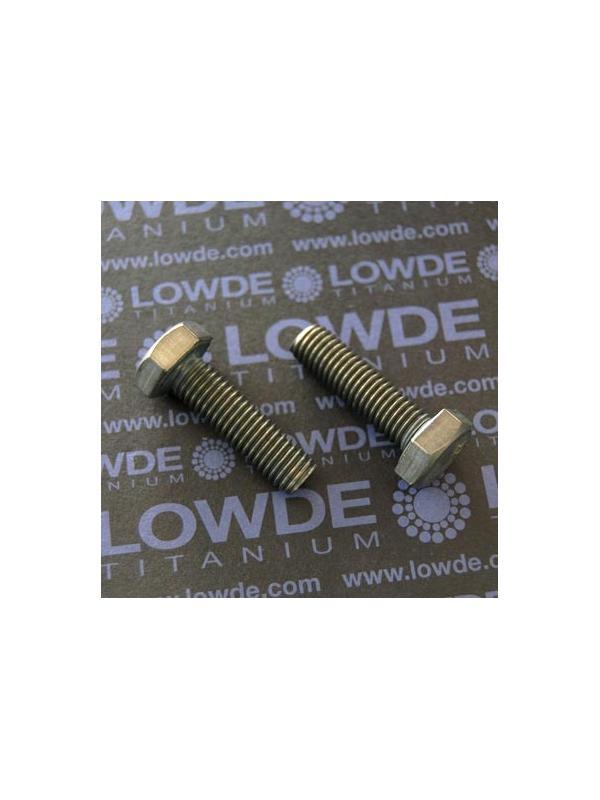 Tornillo DIN 933 M10x35 mm. de titanio gr. 2 (puro) - Tornillo DIN 933 M10x35 mm. de titanio gr. 2 (puro)