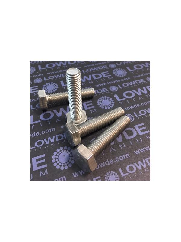 Tornillo DIN 933 M10x45 mm. de titanio gr. 2 (puro) - Tornillo DIN 933 M10x45 mm. de titanio gr. 2 (puro)
