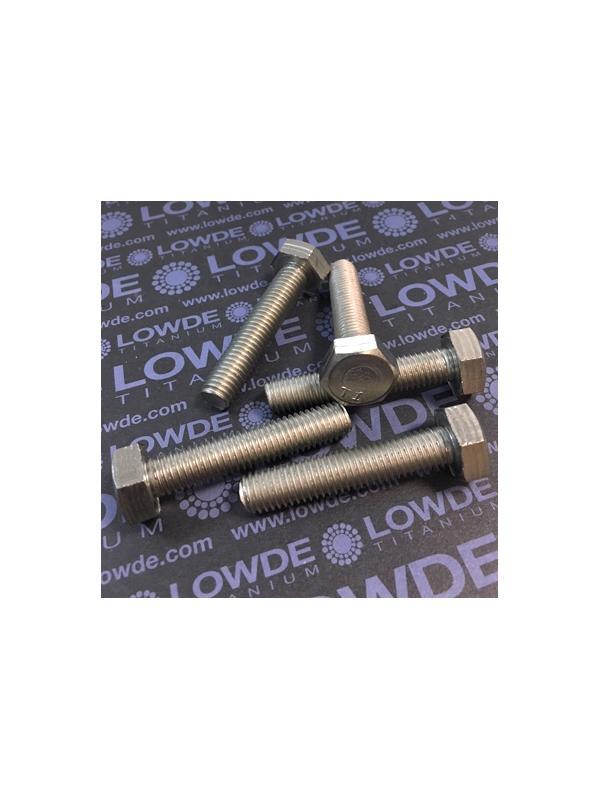 Tornillo DIN 933 M10x50 mm. de titanio gr. 2 (puro) - Tornillo DIN 933 M10x50 mm. de titanio gr. 2 (puro)