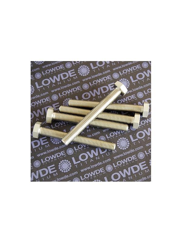 Tornillo DIN 933 M12x1,75x100 mm. de titanio gr. 2 (puro) - Tornillo DIN 933 M12x100 mm. de titanio gr. 2 (puro)