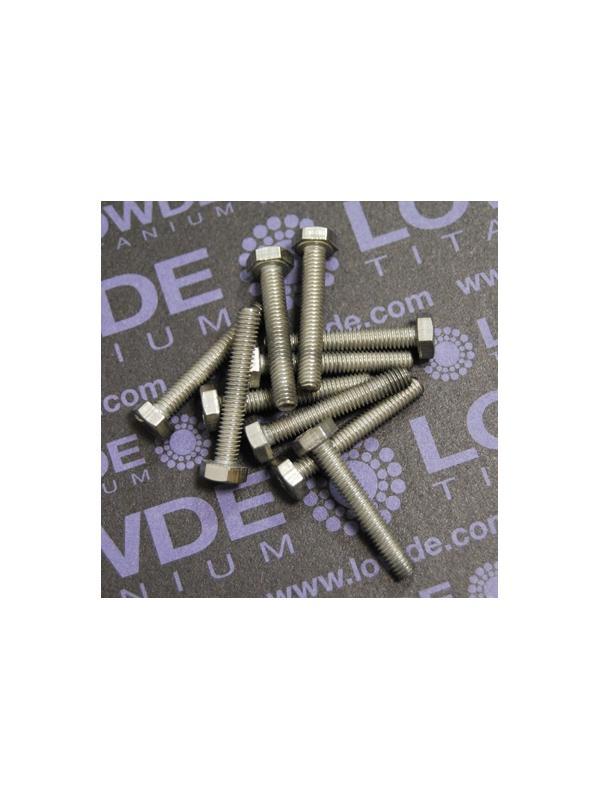 Tornillo DIN 933 M4x25 mm. de titanio gr. 2 (puro) - Tornillo DIN 933 M4x25 mm. de titanio gr. 2 (puro)