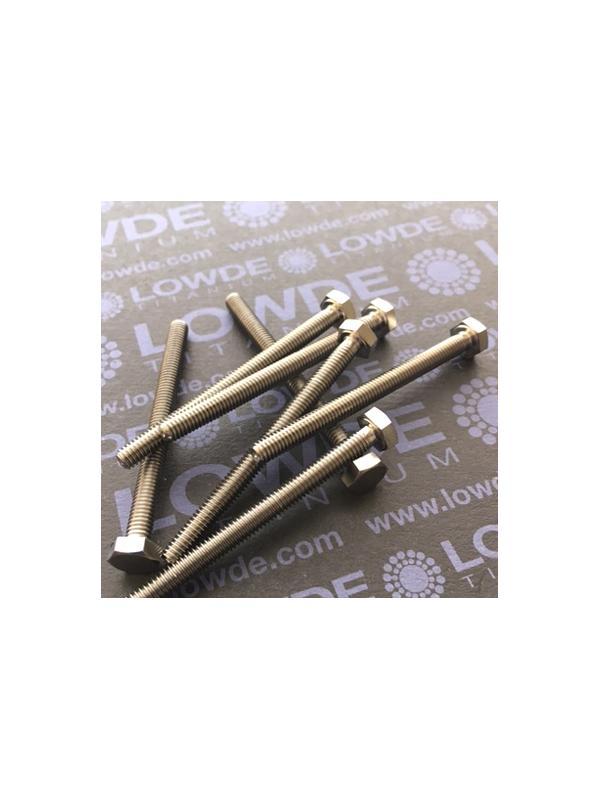 Tornillo DIN 933 M4x50 mm. de titanio gr. 2 (puro) - Tornillo DIN 933 M4x50 mm. de titanio gr. 2 (puro)