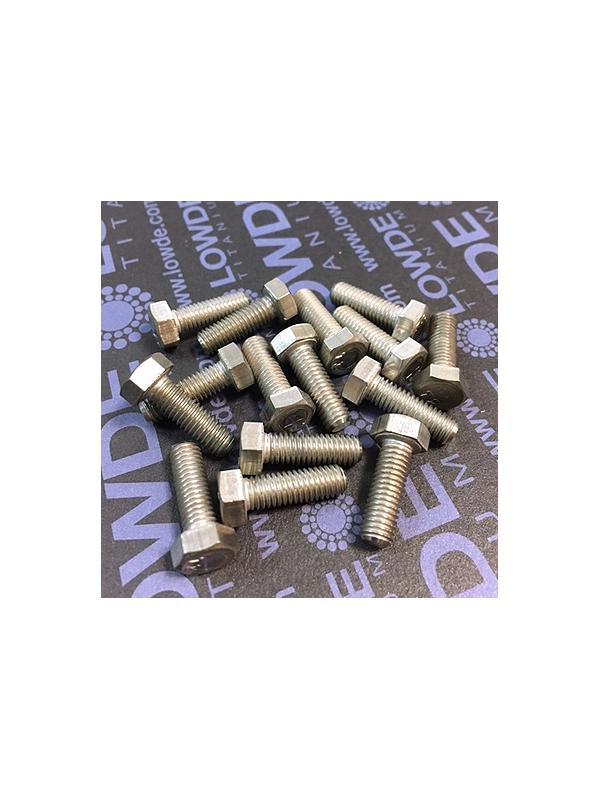 Tornillo DIN 933 M5x15 mm. de titanio gr. 2 (puro) - Tornillo DIN 933 M5x15 mm. de titanio gr. 2 (puro)