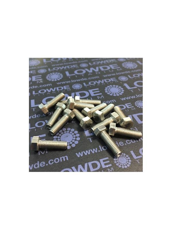 Tornillo DIN 933 M5x16 mm. de titanio gr. 2 (puro) - Tornillo DIN 933 M5x16mm. de titanio gr. 2 (puro)