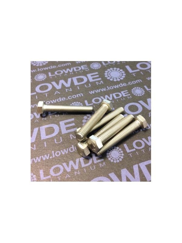 Tornillo DIN 933 M5x30 mm. de titanio gr. 2 (puro) - Tornillo DIN 933 M5x30 mm. de titanio gr. 2 (puro)