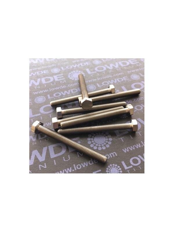 Tornillo DIN 933 M5x50 mm. de titanio gr. 2 (puro) - Tornillo DIN 933 M5x50 mm. de titanio gr. 2 (puro)