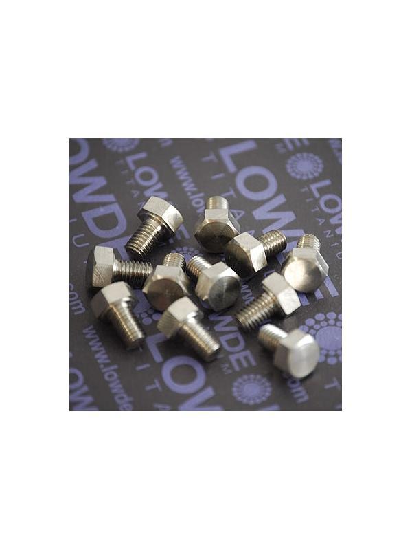 DIN 933 M6x10 mm. de titanio gr. 5 (6Al4V) - DIN 933 M6x10 mm. de titanio gr. 5 (6Al4V)