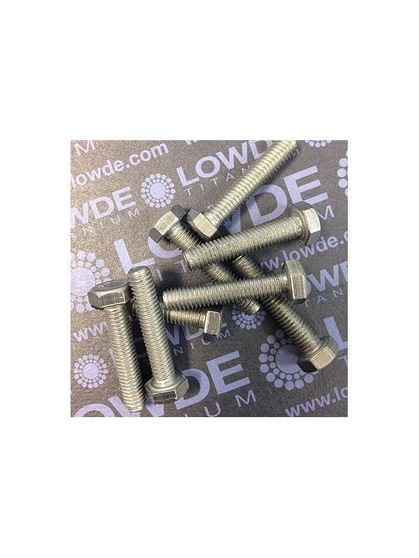 Tornillo DIN 933 M6x30 mm. de titanio gr. 2 (puro) - Tornillo DIN 933 M6x30 mm. de titanio gr. 2 (puro)