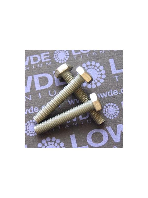 Tornillo DIN 933 M6x35 mm. de titanio gr. 2 (puro) - Tornillo DIN 933 M6x35 mm. de titanio gr. 2 (puro)