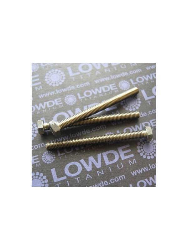 Tornillo DIN 933 M6x70 mm. de titanio gr. 2 (puro) - Tornillo DIN 933 M6x70 mm. de titanio gr. 2 (puro)