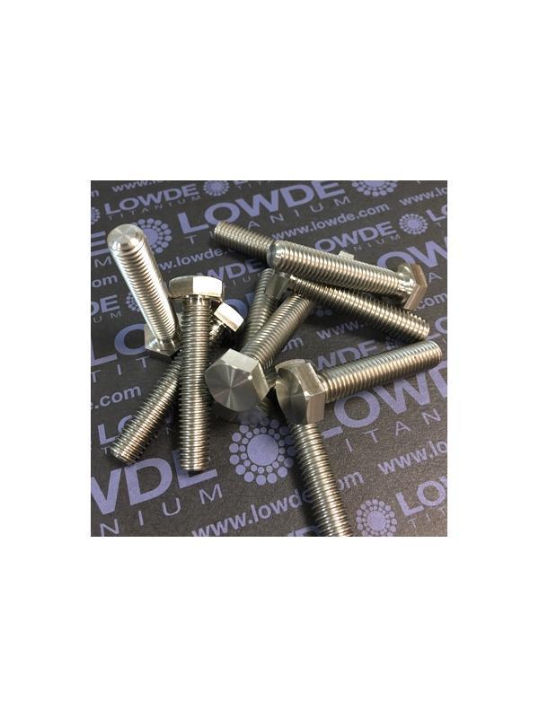 Tornillo DIN 933 M8x40 mm. de titanio gr. 2 (puro) - Tornillo DIN 933 M8x40 mm. de titanio gr. 2 (puro)