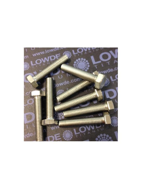 Tornillo DIN 933 M6x50 mm. de titanio gr. 2 (puro) - Tornillo DIN 933 M6x50 mm. de titanio gr. 2 (puro)