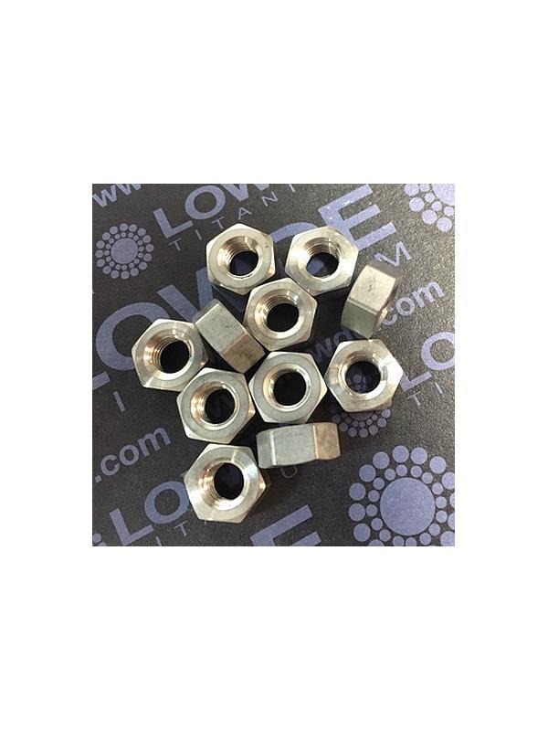 Tuerca DIN 934 M6 de titanio gr. 2 (puro) - Tuerca DIN 934 M6 de titanio gr. 2 (puro)