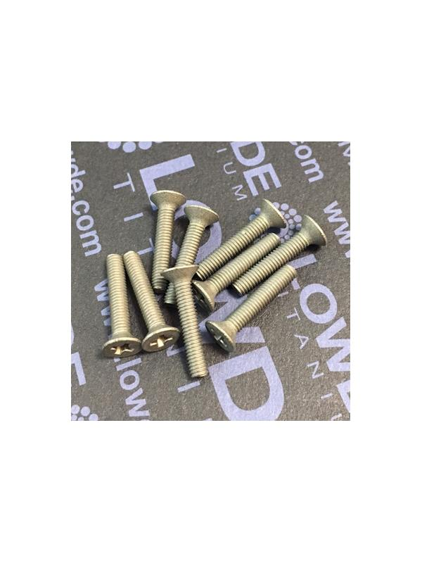 Tornillo DIN 965 M3x16 mm. de titanio gr. 2 (puro) - Tornillo DIN 965 M3x16 mm. de titanio gr. 2 (puro)