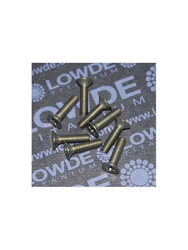 Tornillo DIN 965 M4x16 mm. de titanio gr. 2 (puro) - Tornillo DIN 965 M4x16 mm. de titanio gr. 2 (puro)
