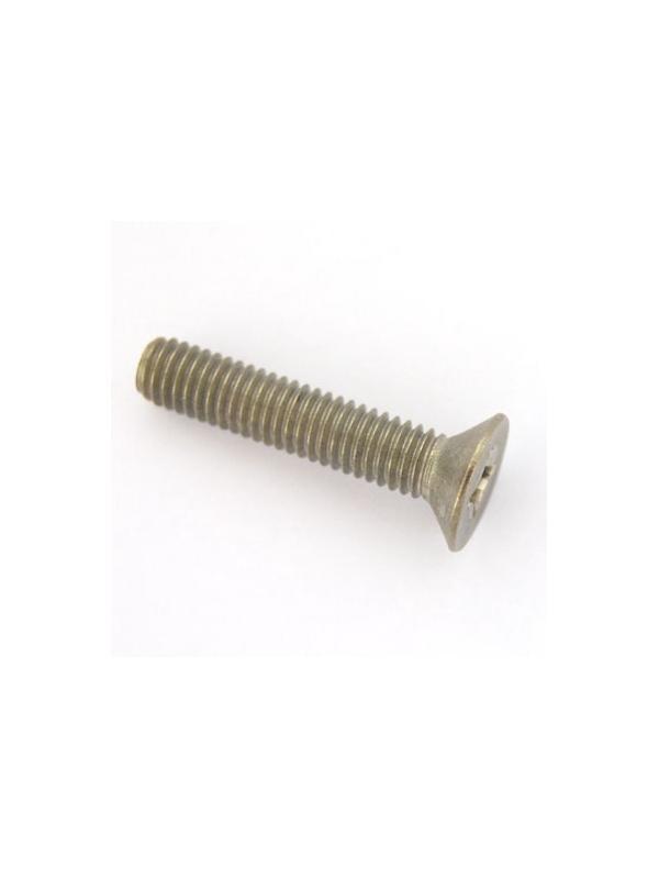 Tornillo DIN 965 M6x30 mm. de titanio gr. 2 (puro) - Tornillo DIN 965 M6x30 mm. de titanio gr. 2 (puro)