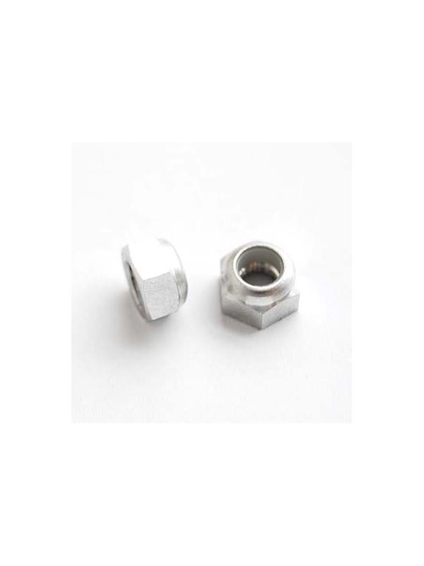 Tuerca DIN 985 M6 autoblocante de Aluminio E.N. 5754 - Tuerca DIN 985 M6 autoblocante de Aluminio E.N. 5754