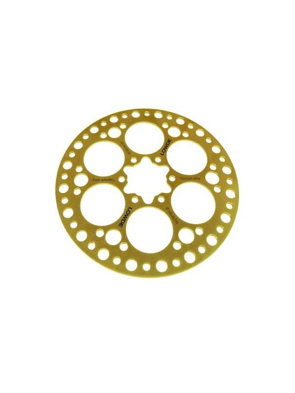 DISCO FRENO de aleación de titanio Ø 160 mm. Recubierto TiN - DISCO DE FRENO de aleación de titanio Ø 160 mm. con recubrimiento TiN. Incluye tornillos.