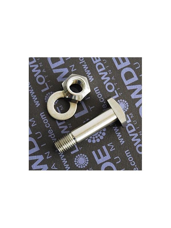 Eje amortiguador M10x43 mm. de titanio gr. 5 (6Al4V) - Eje amortiguador M10x43 mm. de titanio gr. 5 (6Al4V)