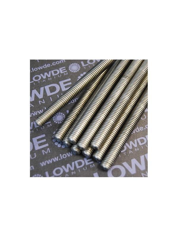 1 Varilla roscada M12x1,75x1000 mm. de titanio gr. 2. - Varilla roscada M12x1,75x1000 mm. de titanio gr. 2. Paso de rosca de 1,75 (el habitual en métrica 12) Titanio gr. 2.