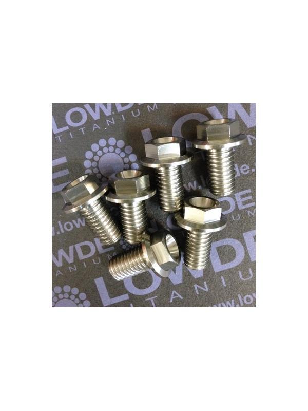 HEXAGONAL CON BALONA M8x15 mm. titanio gr. 5 (6Al4V) - HEXAGONAL CON BALONA M8x15 mm. titanio gr. 5 (6Al4V).