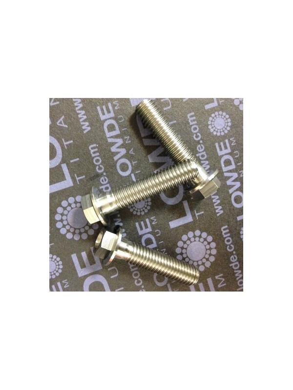 HEXAGONAL CON BALONA M8x35 mm. titanio gr. 5 (6Al4V) - HEXAGONAL CON BALONA M8x35 mm. titanio gr. 5 (6Al4V).