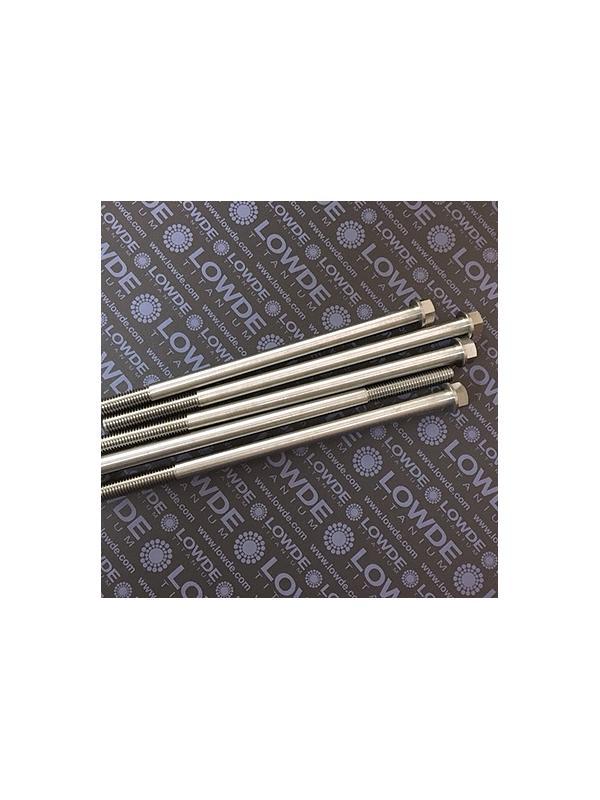HEXAGONAL CON BALONA M10x1,50x200 mm. titanio gr. 5 (6Al4V) - HEXAGONAL CON BALONA M10x1,50x200 mm. titanio gr. 5 (6Al4V) Rosca 50 mm.