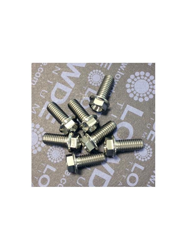 HEXAGONAL CON BALONA M6x15 mm. titanio gr. 5 (6Al4V) - HEXAGONAL CON BALONA M6x15 mm. titanio gr. 5 (6Al4V)