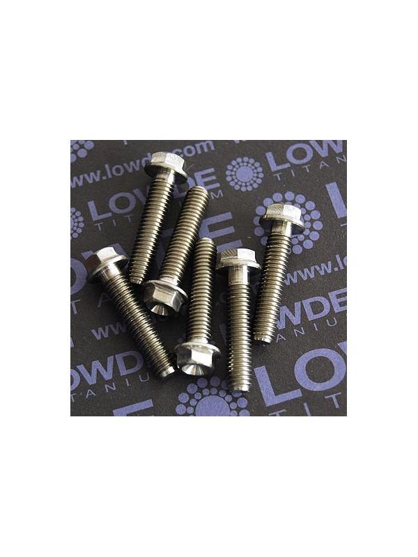 HEXAGONAL CON BALONA M6x28 mm. titanio gr. 5 (6Al4V) - HEXAGONAL CON BALONA M6x28 mm. titanio gr. 5 (6Al4V)