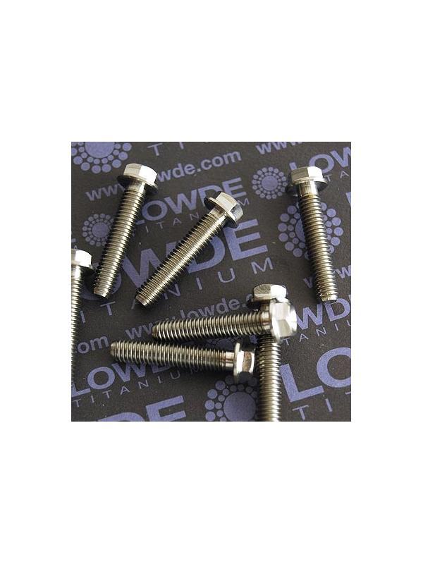 HEXAGONAL CON BALONA M6x30 mm. titanio gr. 5 (6Al4V) - HEXAGONAL CON BALONA M6x30 mm. titanio gr. 5 (6Al4V)