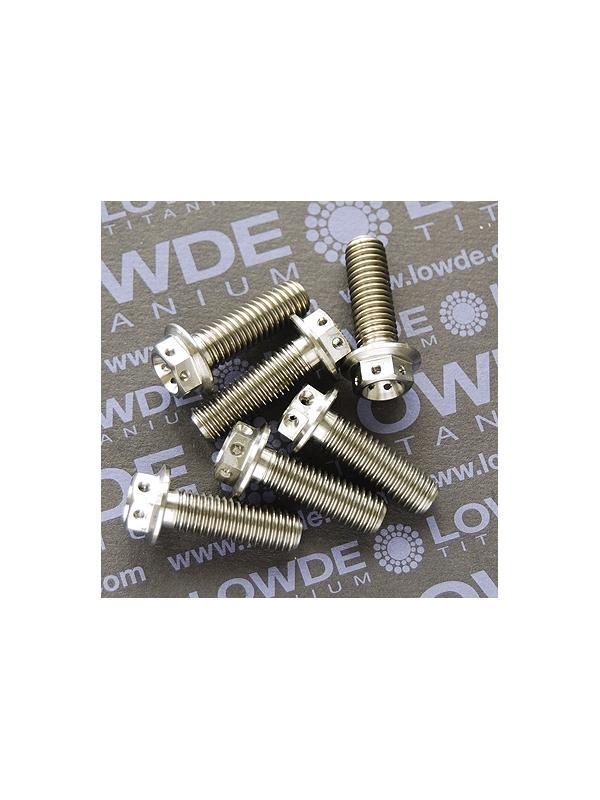 HEXAGONAL CON BALONA M8x25 mm. titanio gr. 5 (6Al4V) con taladros - HEXAGONAL CON BALONA M8x25 mm. titanio gr. 5 (6Al4V). Con taladros en cabeza para alambre de seguridad.