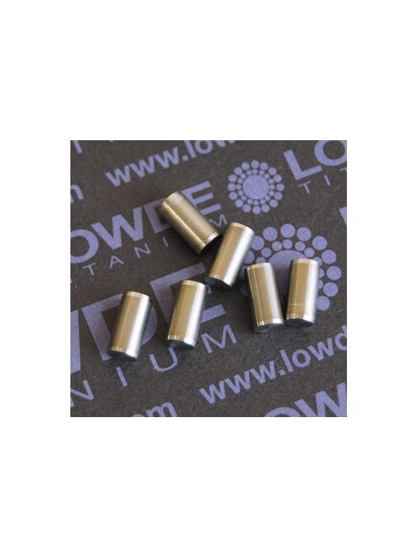 Pin ISO 2338 Ø5x10 mm. tol. h8 de Titanio gr. 5 (6Al4V) - Pin ISO 2338 Ø5x10 mm. tol. h8 de Titanio gr. 5 (6Al4V)