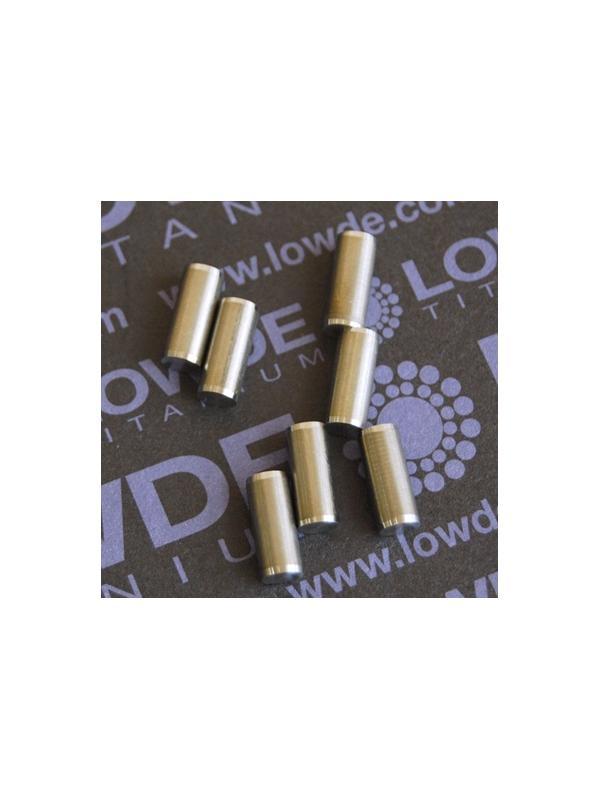 Pin ISO 2338 Ø5x12 mm. tol. h8 de Titanio gr. 5 (6Al4V) - Pin ISO 2338 Ø5x12 mm. tol. h8 de Titanio gr. 5 (6Al4V)