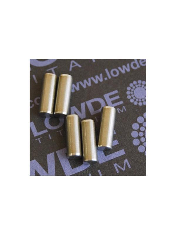 Pin ISO 2338 Ø5x14 mm. tol. h8 de Titanio gr. 5 (6Al4V) - Pin ISO 2338 Ø5x14 mm. tol. h8 de Titanio gr. 5 (6Al4V)