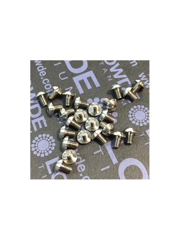 ISO 7380 M3x4 mm. de titanio gr. 5 (6Al4V) - ISO 7380 M3x0,50x4 mm. de titanio gr. 5 (6Al4V)