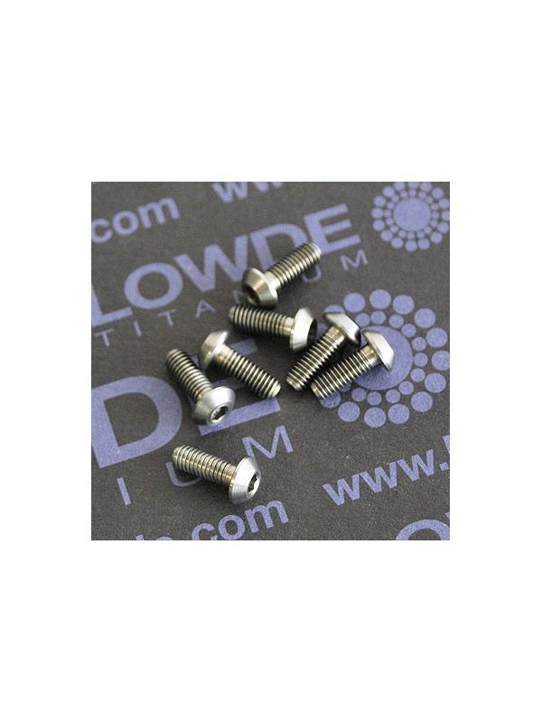 ISO 7380 M3x8 mm. de titanio gr. 5 (6Al4V) - ISO 7380 M3x8 mm. de titanio gr. 5 (6Al4V)