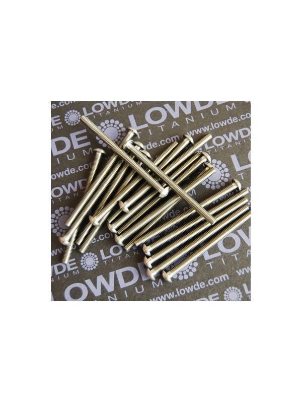 ISO 7380 M4x60 mm. de titanio gr. 5 (6Al4V) - ISO 7380 M4x60 mm. de titanio gr. 5 (6Al4V). Totalmente roscado.