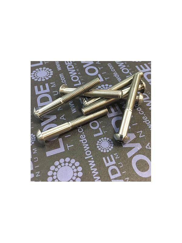 Boton ISO 7380 M5x40 mm. de titanio gr. 5 (6Al4V).  - Tornillo de botón ISO 7380 M5x40 mm. de titanio gr. 5 (6Al4V). Longitud roscada: 25 mm.