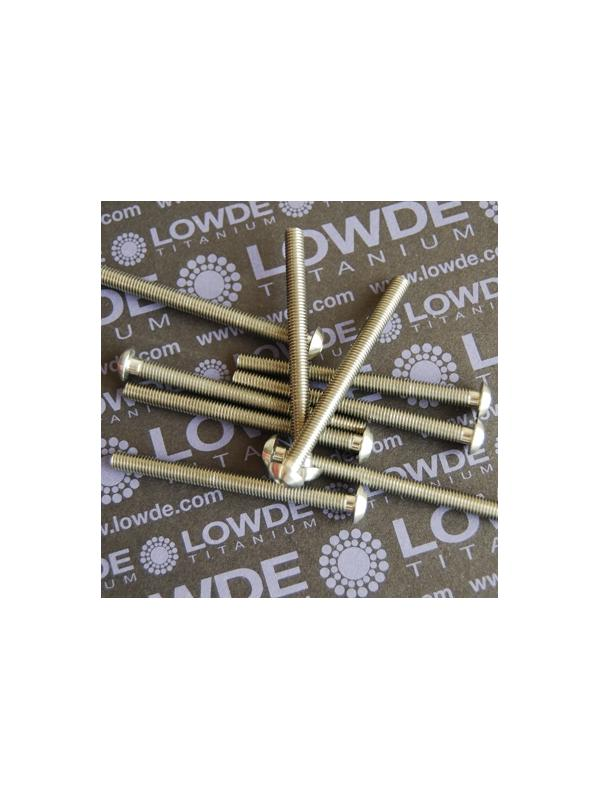 ISO 7380 M5x60 mm. de titanio gr. 5 (6Al4V) - ISO 7380 M5x60 mm. de titanio gr. 5 (6Al4V). Totalmente roscado.