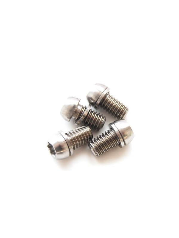 Kit 4 tornillos M6x10 llave torx de titanio gr. 5 con arandelas. Cabeza muy pequeña - Kit 4 tornillos M6x10 llave torx de Titanio gr. 5 con arandelas. Cabeza muy pequeña