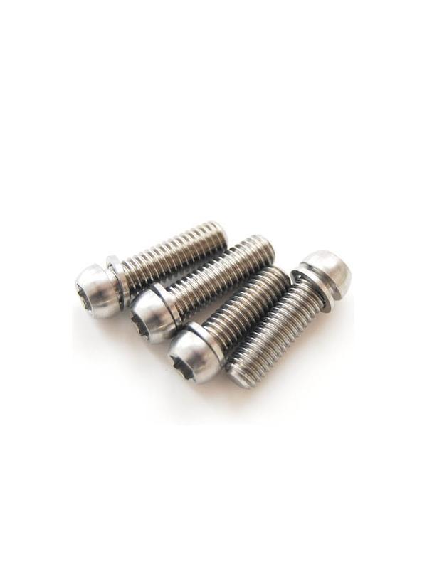 Kit 4 tornillos M6x20 llave torx de titanio gr. 5 con arandelas. Cabeza muy pequeña - Kit 4 tornillos M6x20 llave torx de Titanio gr. 5 con arandelas. Cabeza muy pequeña