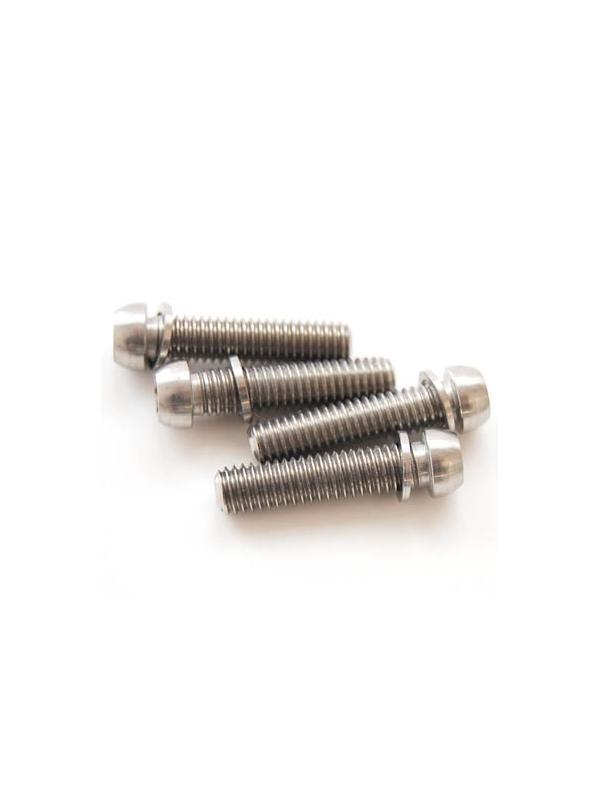 Kit 4 tornillos M6x25 llave torx de titanio gr. 5 con arandelas. Cabeza muy pequeña - Kit 4 tornillos M6x25 llave torx de Titanio gr. 5 con arandelas. Cabeza muy pequeña