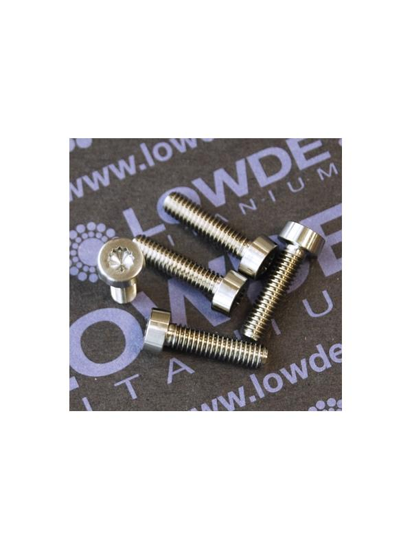 LN 29950 M4x16 titanio gr. 5 (6Al4V) - Tornillo LN 29950 J 04 16 B M4x15 mm. titanio gr. 5 (6Al4V) AMS 4928. Fabricado bajo normativa aeroespacial. Certificados de calidad incluidos.