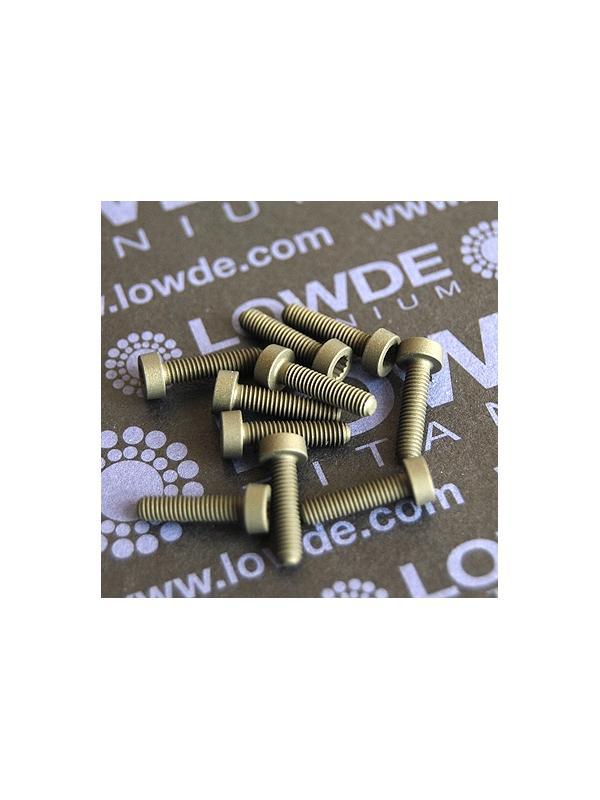 60 Screws LN 29950 M3x12 titanio gr. 5 (6Al4V) - 60 Tornillos LN 299500312B M3x12 mm. titanio gr. 5 (6Al4V) AMS 4928. Fabricado bajo normativa aeroespacial. Certificados de calidad incluidos.