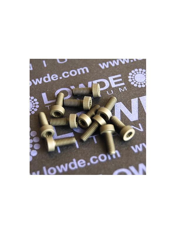 275 Screws LN 29950 M3x8 titanio gr. 5 (6Al4V) - 275 Tornillos LN 299500308B M3x8 mm. titanio gr. 5 (6Al4V) AMS 4928. Fabricado bajo normativa aeroespacial. Certificados de calidad incluidos.