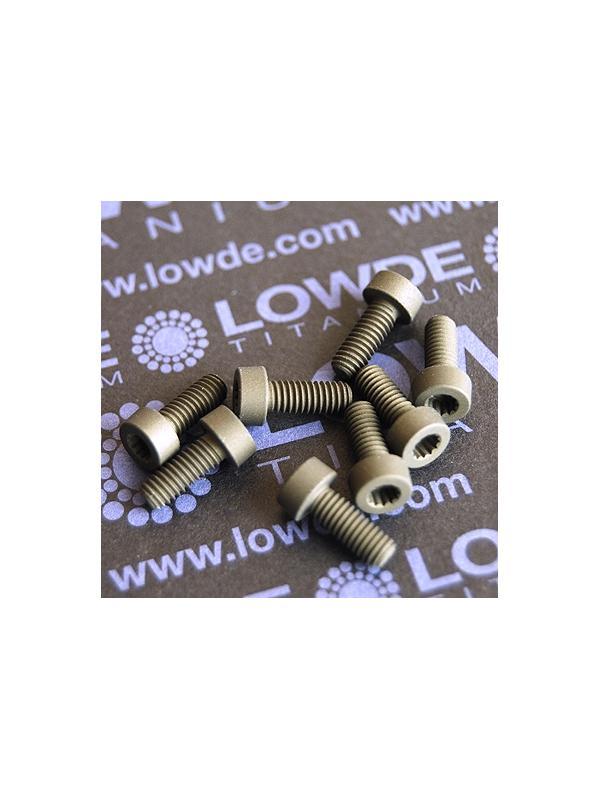 40 Screws LN 29950 M4x10 titanio gr. 5 (6Al4V) - 40 Items LN 29950-0410 B M4x10 mm. titanio gr. 5 (6Al4V) AMS 4928. Fabricado bajo normativa aeroespacial. Certificados de calidad incluidos.