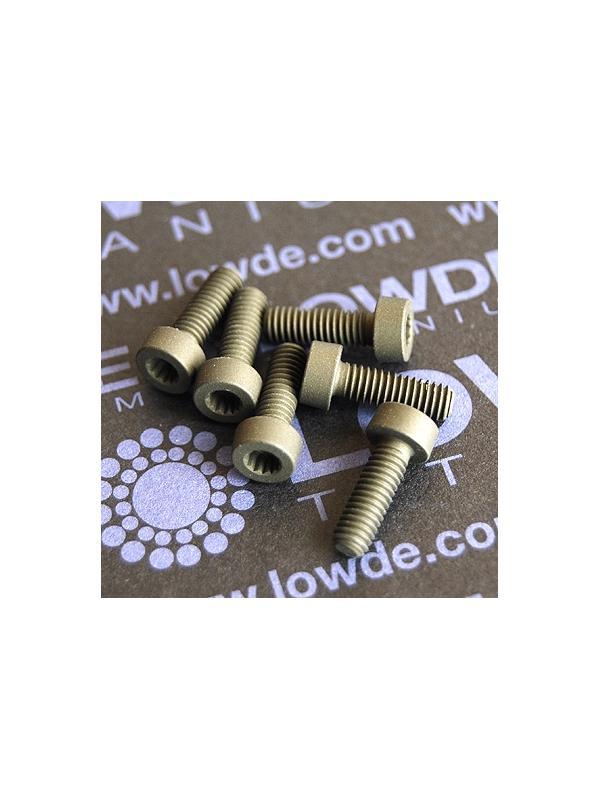 50 Screws LN 29950 M4x12 titanio gr. 5 (6Al4V) - 50 Items LN 29950 J 04 12 B M4x12 mm. titanio gr. 5 (6Al4V) AMS 4928. Fabricado bajo normativa aeroespacial. Certificados de calidad incluidos.