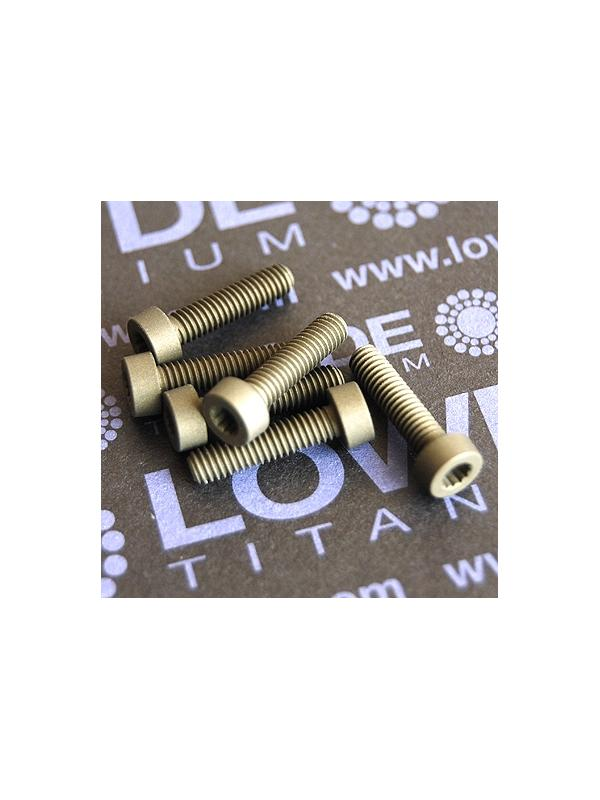 40 Screws LN 29950 M4x16 titanio gr. 5 (6Al4V) - 40 Items LN 29950-0416B M4x16 mm. titanio gr. 5 (6Al4V) AMS 4928. Fabricado bajo normativa aeroespacial. Certificados de calidad incluidos.